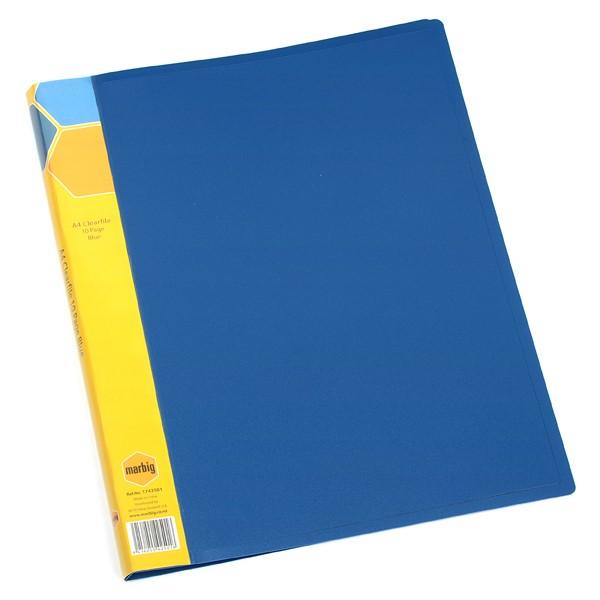 Marbig Display Book Insert Spine A4 10 Pockets Blue - pr_1702028