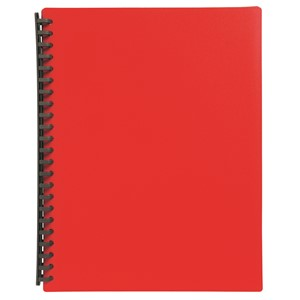 Marbig Display Book Refillable A4 20 Pockets Red