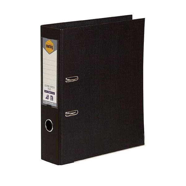 Marbig PE Lever Arch File A4 Black - pr_1702793