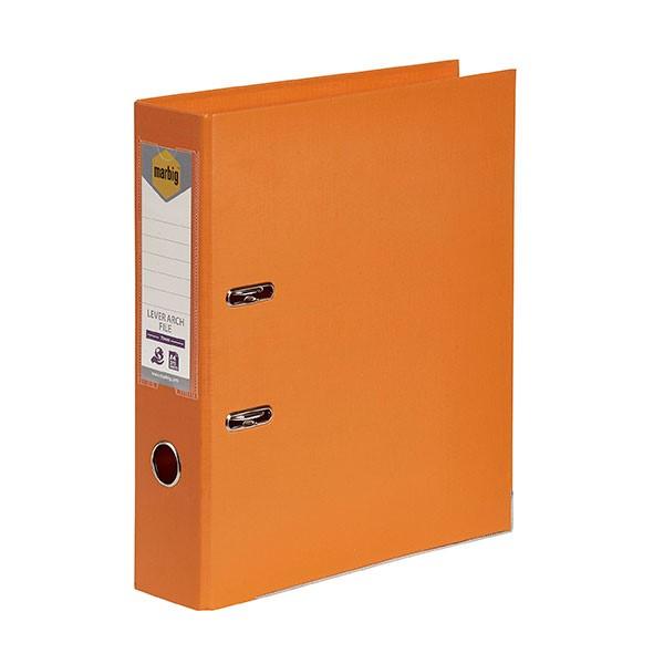 Marbig PE Lever Arch File A4 Orange - pr_1702355