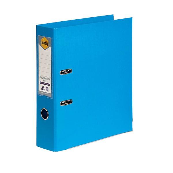 Marbig PE Lever Arch File A4 Sky Blue -