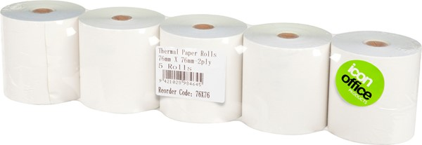 Icon Thermal Roll 2PLY 76X76mm Pack of 5 - pr_1776923