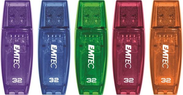 Emtec USB Flash Drive 32GB C410 Assorted Colours -