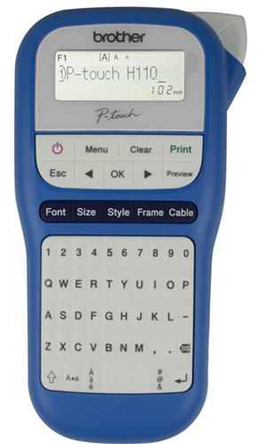 Brother Label Machine PTH110 BW Blue and White -