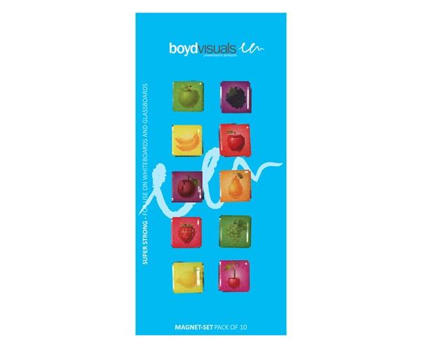 Boyd Visuals Glassboard Fruit Magnets, pack of 10 - pr_1699526