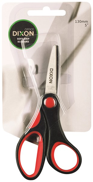 "Dixon Scissors Soft Grip Black and Red 130mm 5"" -"