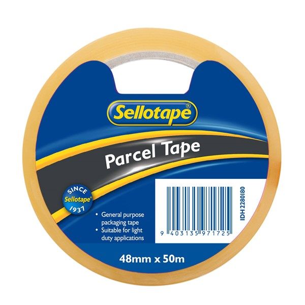 Sellotape Economy Parcel Tape 48mm x 50m Clear -