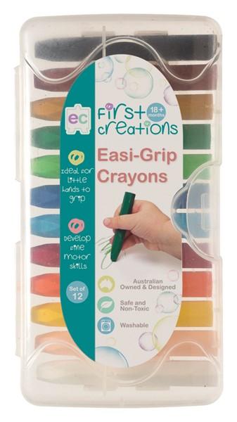 EC First Creations Easi-Grip Crayons Set 12 -