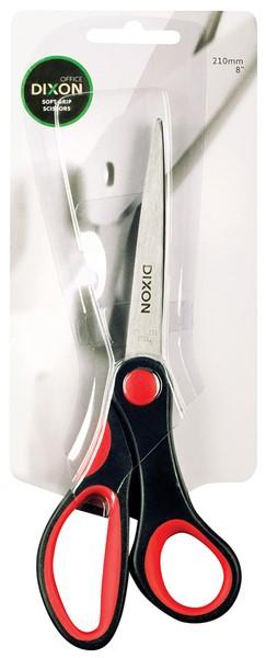 "Dixon Scissors Soft Grip Black and Red 210mm 8"" -"