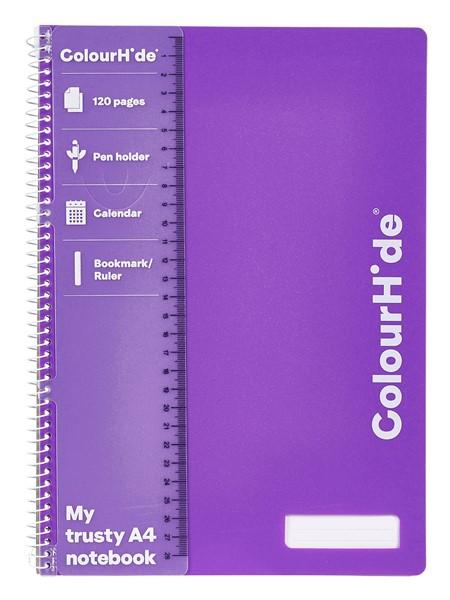 Colourhide Notebook A4 120 Pages Purple - pr_1702494