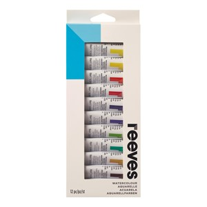 Reeves Watercolour 10ML 12 Pack