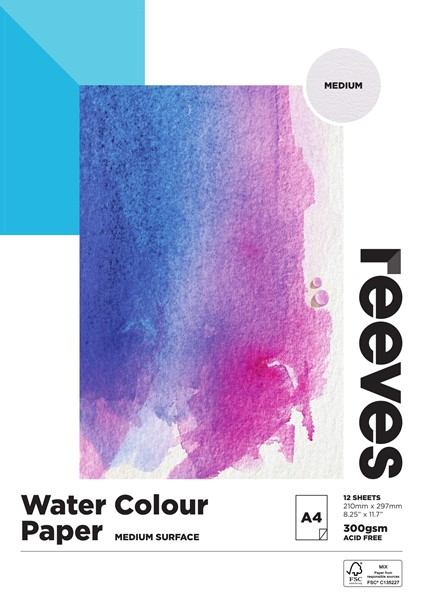 Reeves Watercolour Pad 300gsm A4 Cold Pressed 12 Sheets - pr_427824