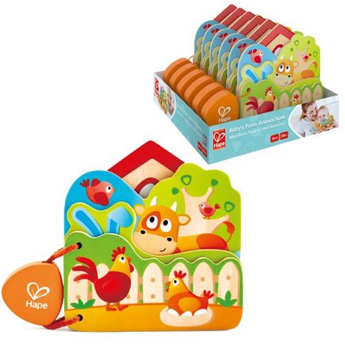 Hape Babys Farm Animal Book -