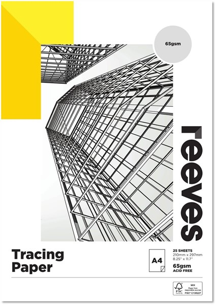 Reeves Tracing Pad 65gsm A4 25 Sheets -