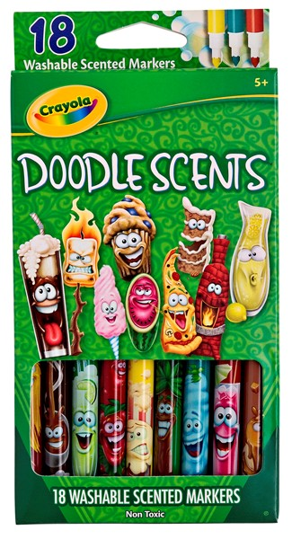 Crayola Doodle Scents Washable Markers 18pk -