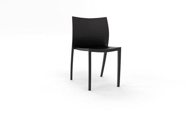 Knight Poly Cafe Stacker Chair Black - pr_1702666