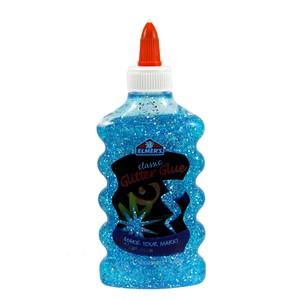 Elmers Glitter Glue - Blue 177ml