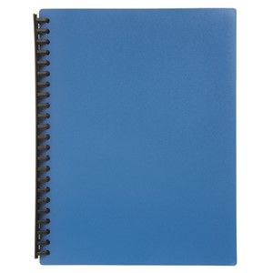 Marbig Display Book Refillable A4 20 Pockets Blue
