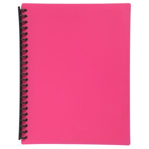 Marbig Display Book Refillable A4 20 Pockets Pink