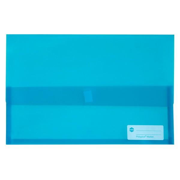 Marbig Polypick Document Wallet Foolscap Transparent Marine -