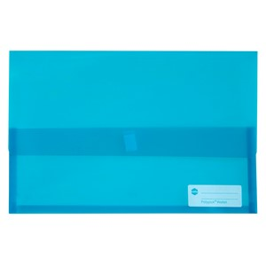 Marbig Polypick Foolscap Document Wallet Transparent Marine