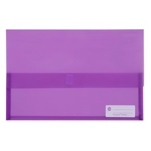Marbig Polypick Foolscap Document Wallet Transparent Purple