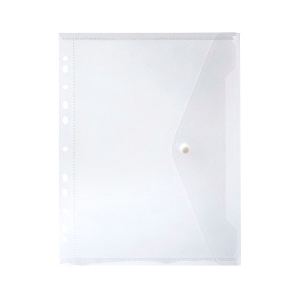 Marbig Side Opening Binder Wallet A4 Clear -