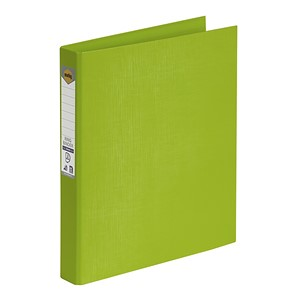Marbig Ringbinder A4 PE 2D Ring 25mm Lime