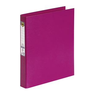 Marbig Ringbinder A4 PE 2D Ring 25mm Pink
