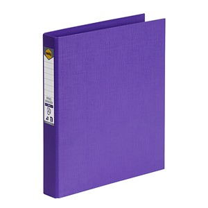 Marbig Ringbinder A4 PE 2D Ring 25mm Purple