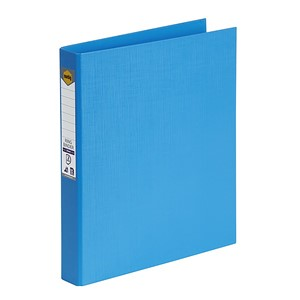Marbig Ringbinder A4 PE 2D Ring 25mm Sky Blue