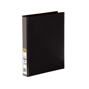 Marbig Clear View Insert Binder A4 25mm Black