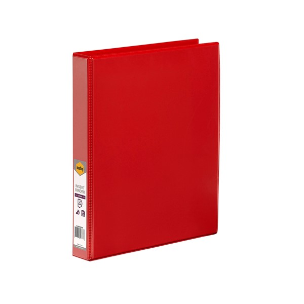 Marbig Clear View Insert Binder A4 25mm Red - pr_1702426