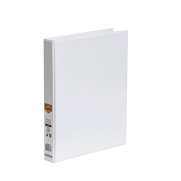 Marbig Clear View Insert Binder A4 25mm White - pr_1702376