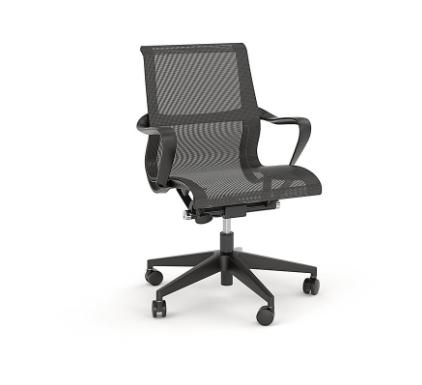 Knight Scroll Mesh Chair Black - pr_1699547