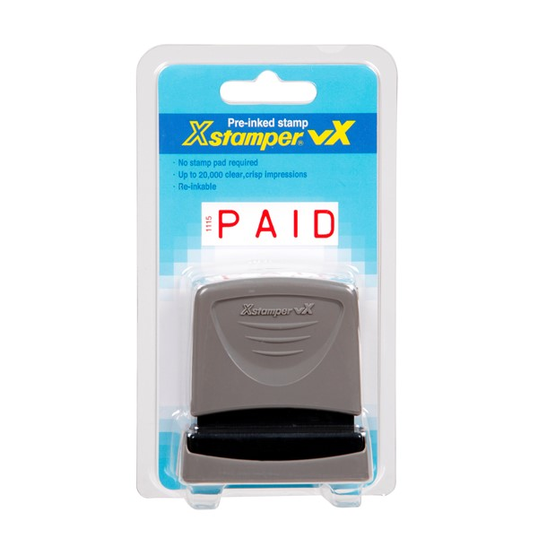 XStamper VX-B 1115 Paid Solid Red -
