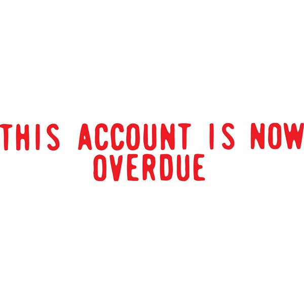 XStamper VX-B 1344 This Account Now Overdue Red -