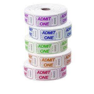 Esselte Admit One Tickets 1000 Per Roll