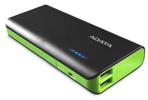 Adata PT100 Portable Power Bank with Flashlight Black/Green