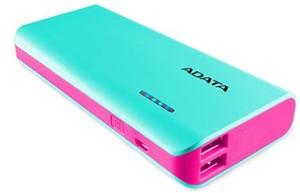 Adata PT100 Portable Power Bank with Flashlight Aqua/Pink -