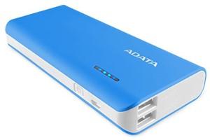 Adata PT100 Portable Power Bank with Flashlight Blue/White -