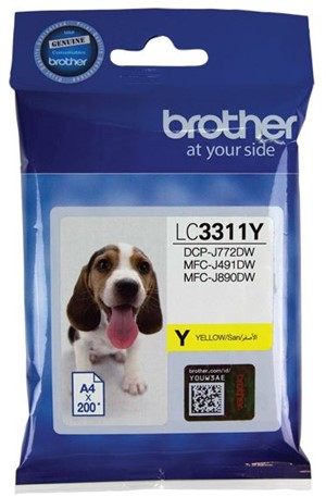 Brother Ink Cartridge LC3311Y Yellow -