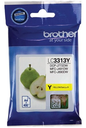 Brother Ink Cartridge LC3313Y Yellow -