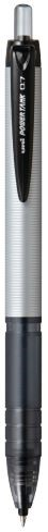 Uni Powertank 0.7mm Retractable Silver Barrel SN-210PT Black  -