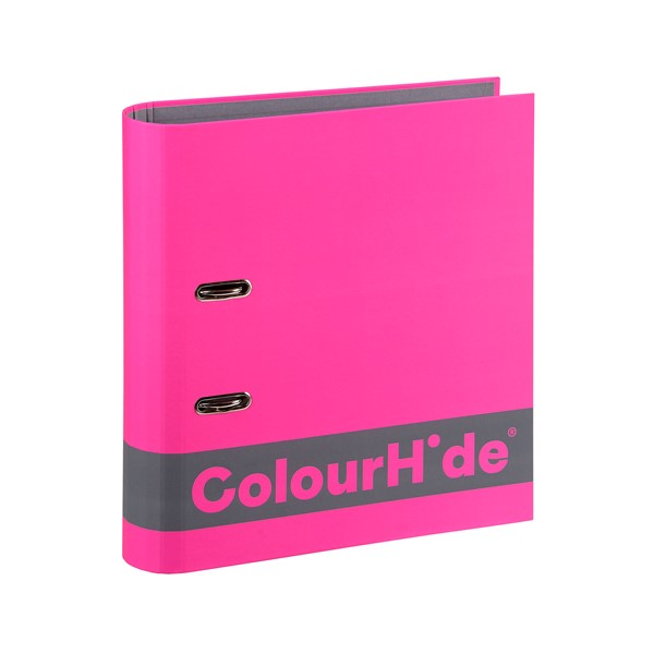 Colourhide Silky Touch Lever Arch A4 70mm Pink - pr_1702256
