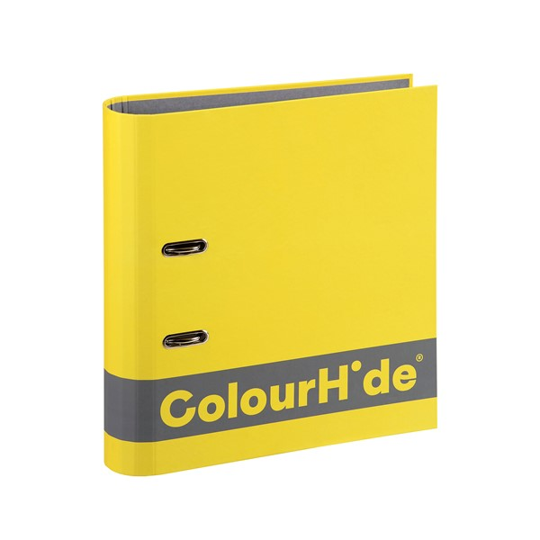 Colourhide Silky Touch Lever Arch A4 70mm Yellow - pr_1702334