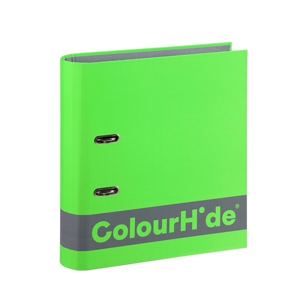 Colourhide Silky Touch Lever Arch A4 70mm Lime - pr_1702036