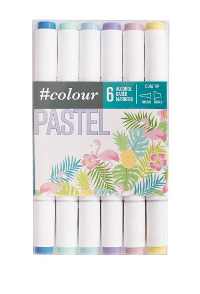 Colour Markers Pastel 6 Pack - pr_1702394