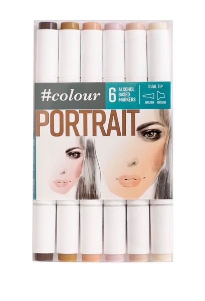 Colour Markers Portrait 6 Pack - pr_1702373