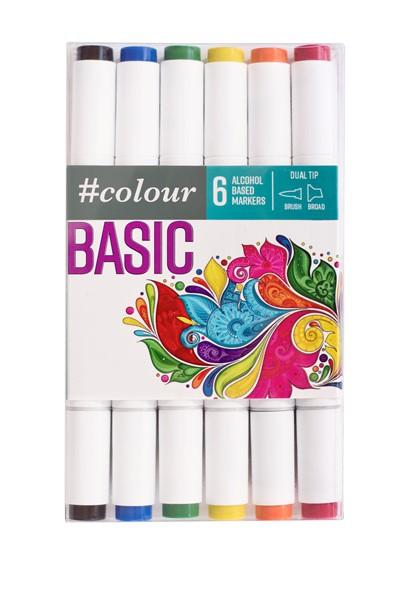 Colour Markers Basic 6 Pack - pr_1702116